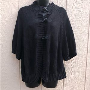 Old Navy Black Sweater Cape size Large
